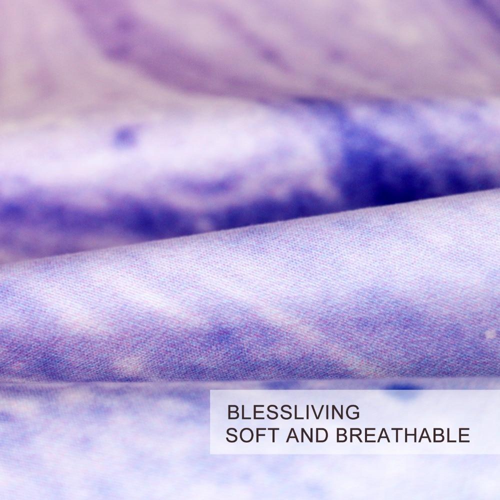 Blessliving En Marbre Colore Ensemble De Literie Rose Pastel Bleu