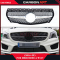 For mercedes-benz w117 cla180 cla 200 cla260 cla300 2013 2014 2015+ diamond silver abs forntgrill
