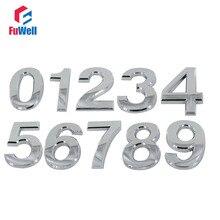 Двери количество серебра Цвет 70 мм Высота 0/1/2/3/4/5/6 /7/8/9/A/B/C/D/E/F # дополнительный ABS Пластик цифровой номер дома
