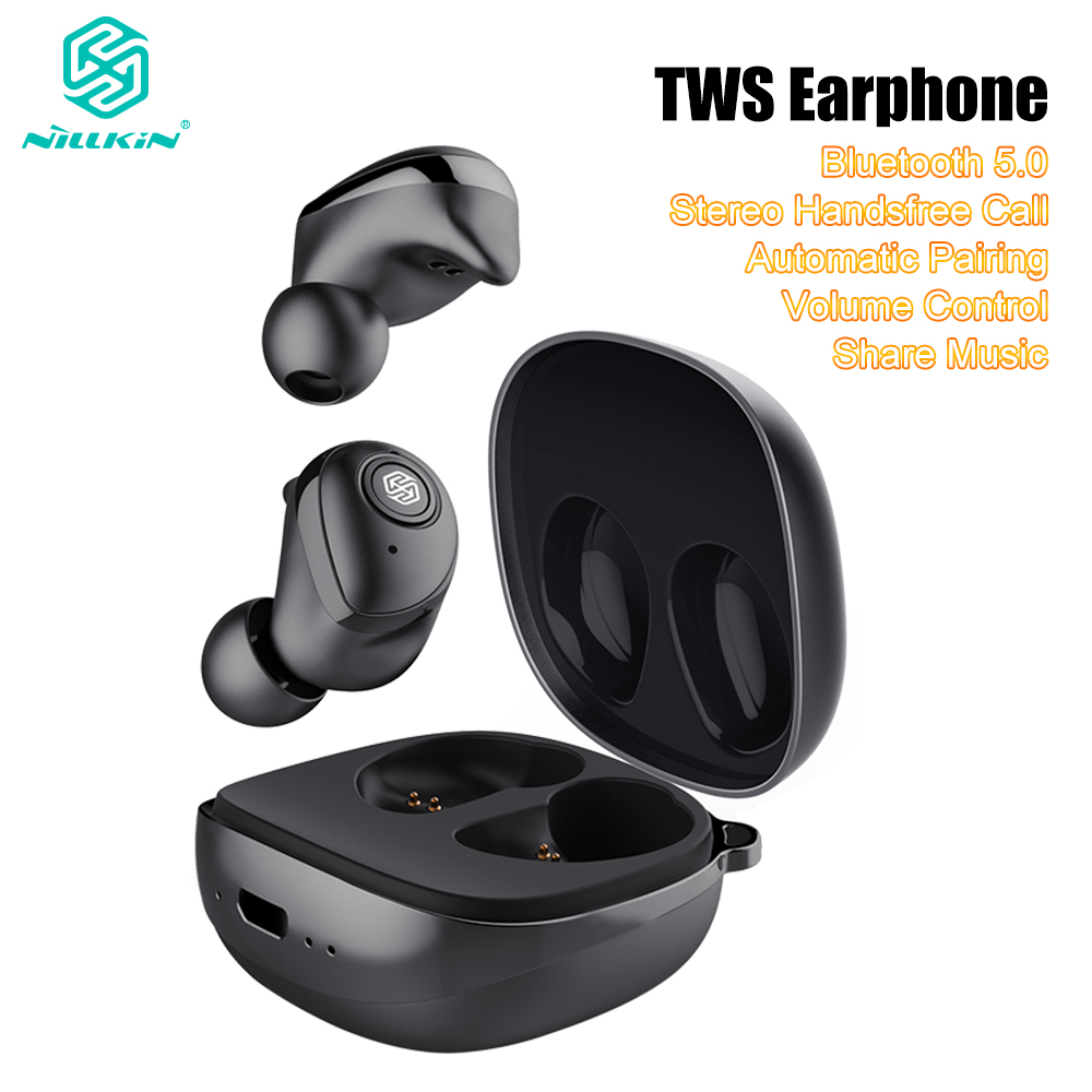 Update Nillkin Auto Pair TWS Earphone Bluetooth 5.0 True Wireless IPX5 Stereo Handsfree Call Charging Case Volume Control 750mAhUpdate Nillkin Auto Pair TWS Earphone Bluetooth 5.0 True Wireless IPX5 Stereo Handsfree Call Charging Case Volume Control 750mAh
