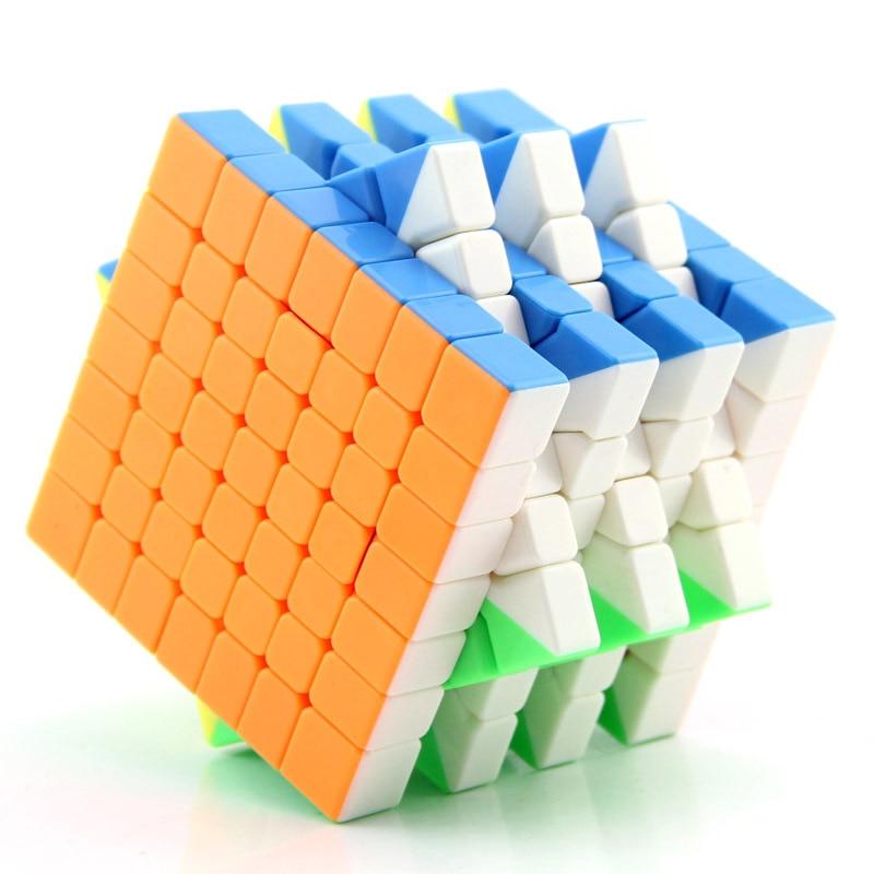 71 MM offre spéciale MoYu MF7 Magic cube professionnel 7x7x7 Cubo magico vitesse torsion Puzzle Neo Cube jouets éducatifs pour enfants cadeaux