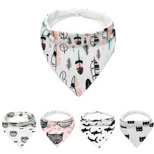 cotton bandana bibs baby towel cotton bibs fashion bibs kawaii feeding saliva towel chicco biberon #F#3ot26(China)