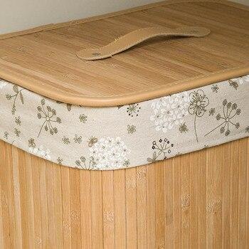 Cestas Grandes Con Tapas | Cesta De Almacenamiento De Bambú Plegable Económica Caja De Cubo De Lavandería Con Tapa Y Encaje Extraíble Ds99