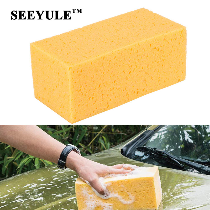 Back To Search Resultsautomobiles & Motorcycles Special Section 1pc Seeyule Strong Water Absorbing Car Wash Sponge Home Cleaning Honeycomb Style Dust Remove