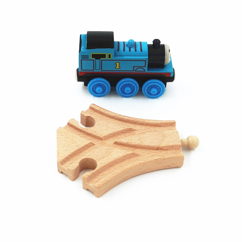 Train Track Accessories Wood Tracks Railway Compatible With Wood Trains Tracks Railway With All Brands Trains Small Track 6.5cm