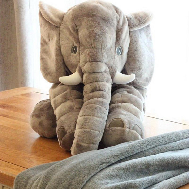 Cute Elephant Pillow+Blanket Dual Use Plush Doll Toy 2 in ...