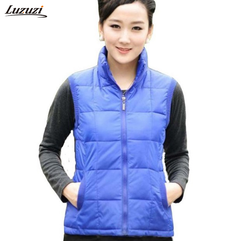 1pc winter vest women colete feminino cotton padded. Black Bedroom Furniture Sets. Home Design Ideas