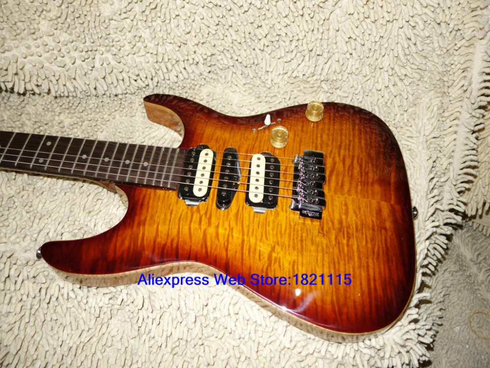 high quality brown flame top electric guitar 24 frets china guitars best selling in guitar from. Black Bedroom Furniture Sets. Home Design Ideas