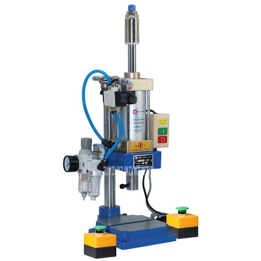 DT-63 Bench Pedal Pneumatic Press Small Adjustable Mechanical Press Pneumatic Machinery Punching Printing Machine 110V/220V
