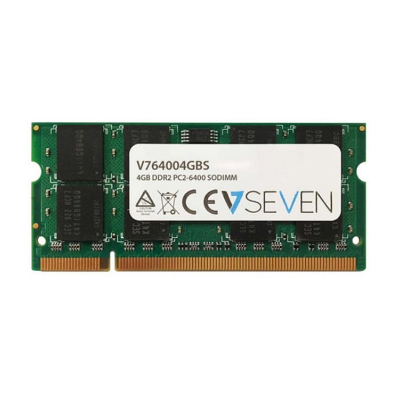 V7 4 gb DDR2 PC2-6400 800 mhz SO DIMM Portable modulo de memoria-V764004GBS, 4 gb, 1x4 GB, DDR2, 800 mhz, 200-pin SO-DIMM, Ver