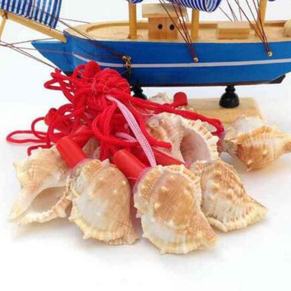 1pcs Creative Natural Shell Pendant Necklace Conch Whistle Survival Tool For Kids Children Tourism Souvenirs Instrument Crafts