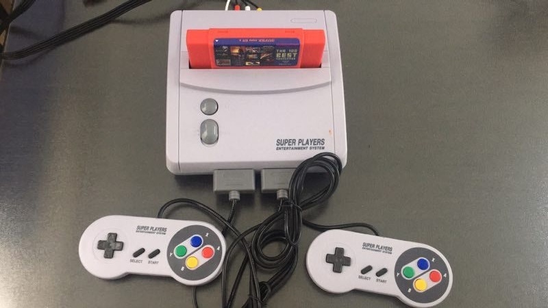 TV Video Game Console for S-n-e-s 16 Bit Games with 100 In 1 SNES Game Cartridge (can battery save)