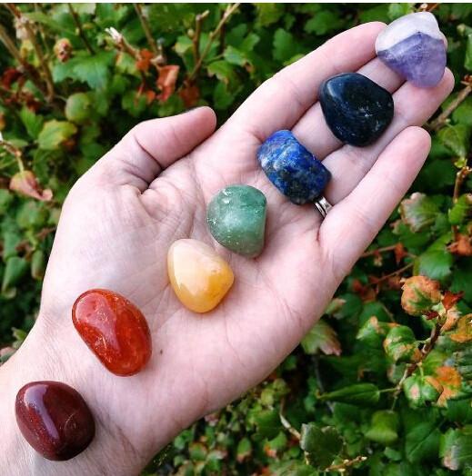 7 Chakra Crystal Healing Tumbled Stones Set