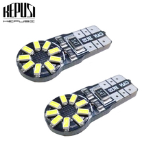 2Pcs CANBUS T10 W5W 194 168 Led 3014 Chip Light Bulb For Car Parking Position License Interior Dome Lights 12V No Error White 2pcs high power t10 canbus chip led chip interior lights 194 w5w no obc error led bulbs car light source parking lamp white