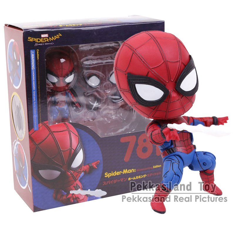 Spider Man Homecoming Spiderman Nendoroid 781 PVC Action Figure Collectible Model Toy Doll 10cm