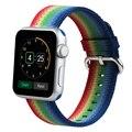 Красочные Apple Watch Band Нейлон Ремешки Ткань Ремешок Замена Браслет Браслет Для Apple Watch 38 ММ 42 ММ