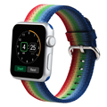 Colorful apple watch banda de tela de nylon correas de reloj correa de reloj de reemplazo pulsera para apple watch 38mm 42mm