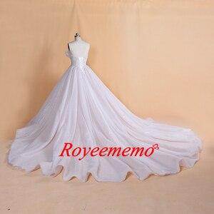 Image 3 - 2019 ออกแบบใหม่ขายร้อนแขนยาวสีทองเข็มขัดชุดแต่งงานลูกไม้ชุดแต่งงานภาพจริงโรงงานผลิตขายส่งราคา
