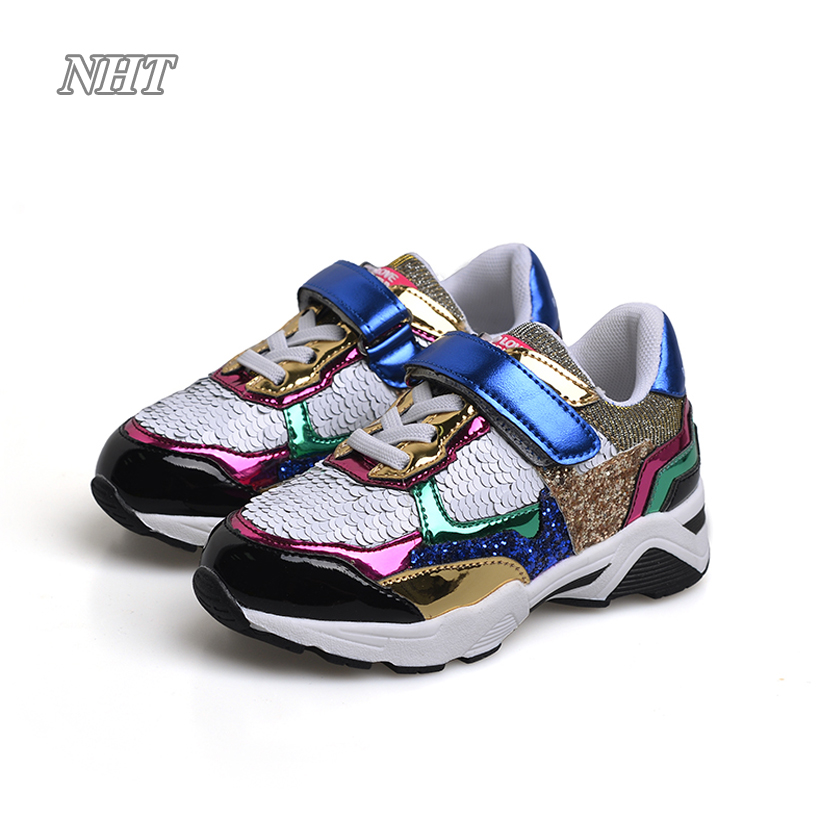 Luxury bling children casual shoes for girls, glitter platform sneakers, sequined shining gold colorful shoe princess kids gigabyte ga ep43 ds3 original used desktop motherboard ep43 ds3 p43 lga 775 ddr2 16g sata2 usb2 0 atx