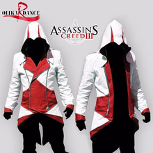Assassins Creed 3 III Conner Kenway Hoodie/Coat/Jacket Cosplay Costume