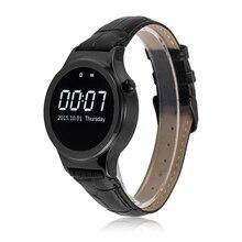 2015 neue Bluetooth Smart Uhr MTK2502 Echtes Leder Handgelenk Smartwatch APK für Apple IOS Samsung Android Smartphone Armbanduhr
