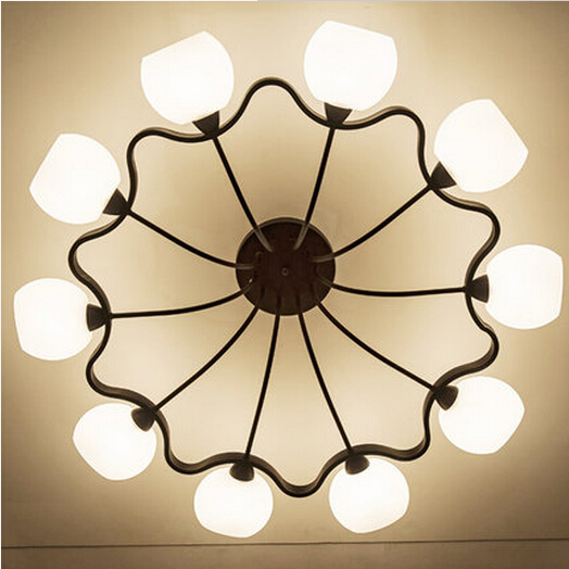 ФОТО Retro American rural atmosphere garden suction top lighting Nordic creative personality living room dining room ceiling lights.