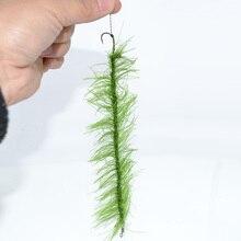 8pcs Hirisi Weed Carp Fishing Hook Ready Made Hair Combi Rig Teflon Hook Ready Tied