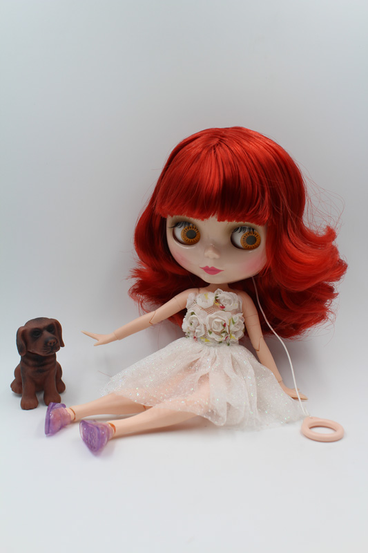 Free Shipping BJD joint RBL-213J DIY Nude Blyth doll birthday gift for girl 4 colour big eyes dolls with beautiful Hair cute toy все цены