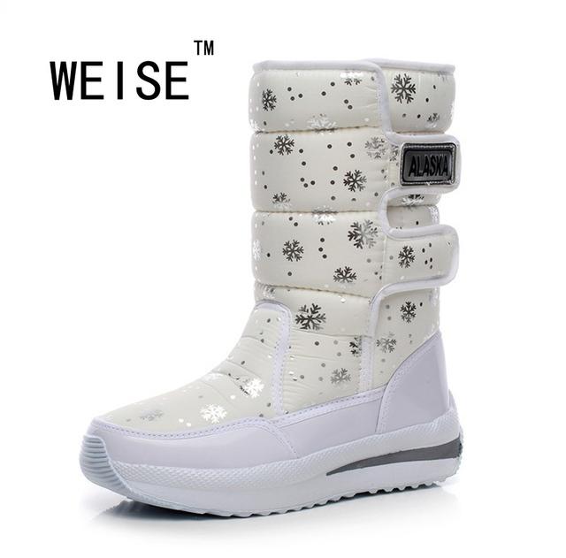 Invierno Nueva Corea Impermeable Botas En Tubo botas de Cuña Botas de Nieve Caliente Gruesa de Algodón Acolchado Zapatos de Las Mujeres Botas de Lluvia