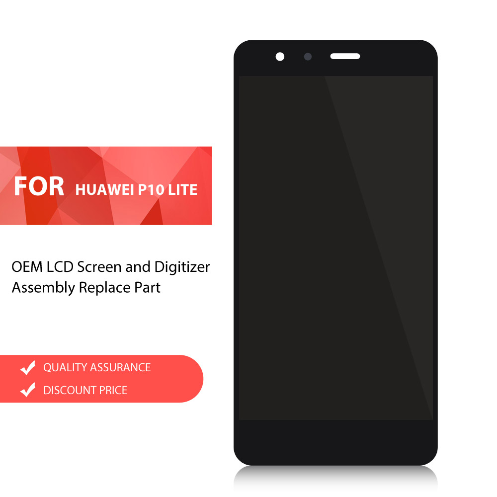 Dulcii Mobile Phone Parts For Huawei P10 Lite OEM LCD Screen and Digitizer Assembly Replace Part for Huawei P 10 Lite LCDs Black