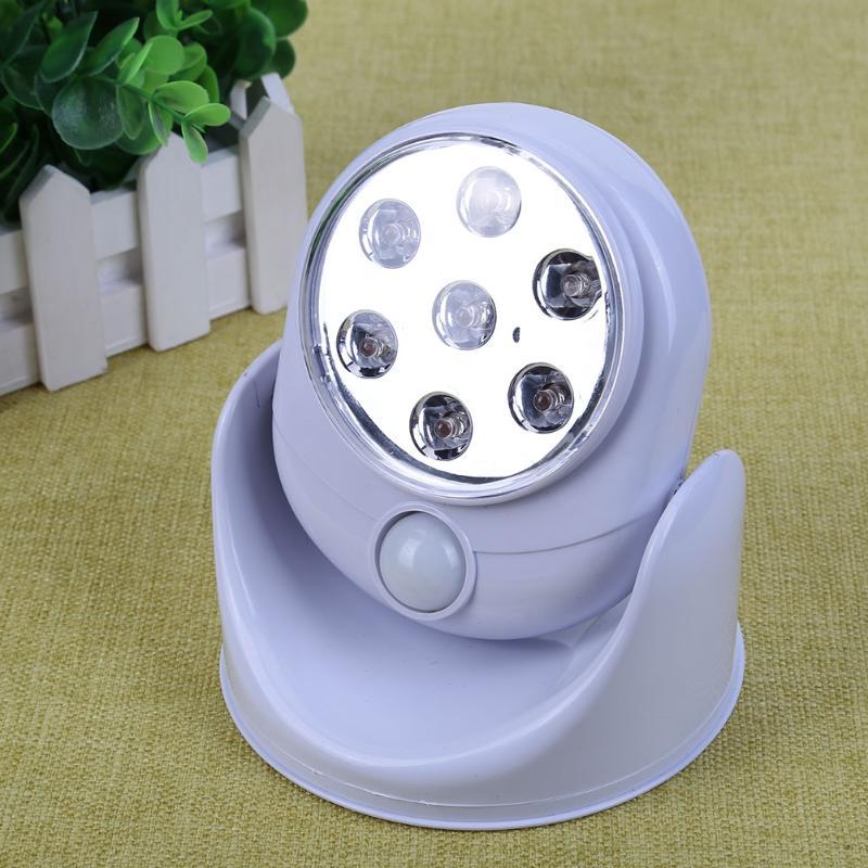 Super Lumineux Intelligent 360 Degrés Rotatif Automatique Corps Humain Induction Lampe LED Night Light pour les Enfants Cadeau