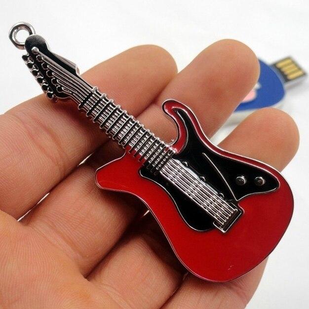 100% Real Capacity Guitar 2.0 USB Flash Memory Pen Drive Stick Disk Memory Stick Drive Thumb Drives Pendrive 64GB 32GB 512GB