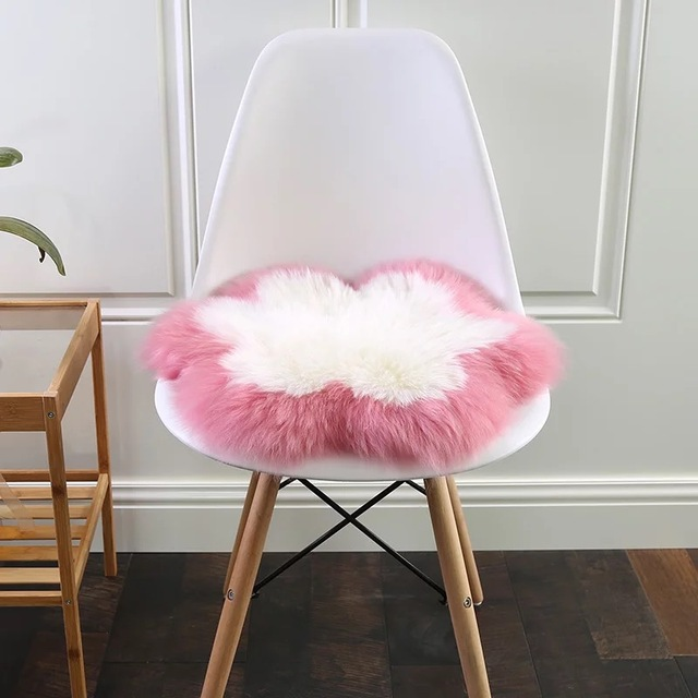 fur chair cover kitchen wooden chairs muzzi real leather soft artificial sheepskin lambskin fluffy natural long wool rug carpet