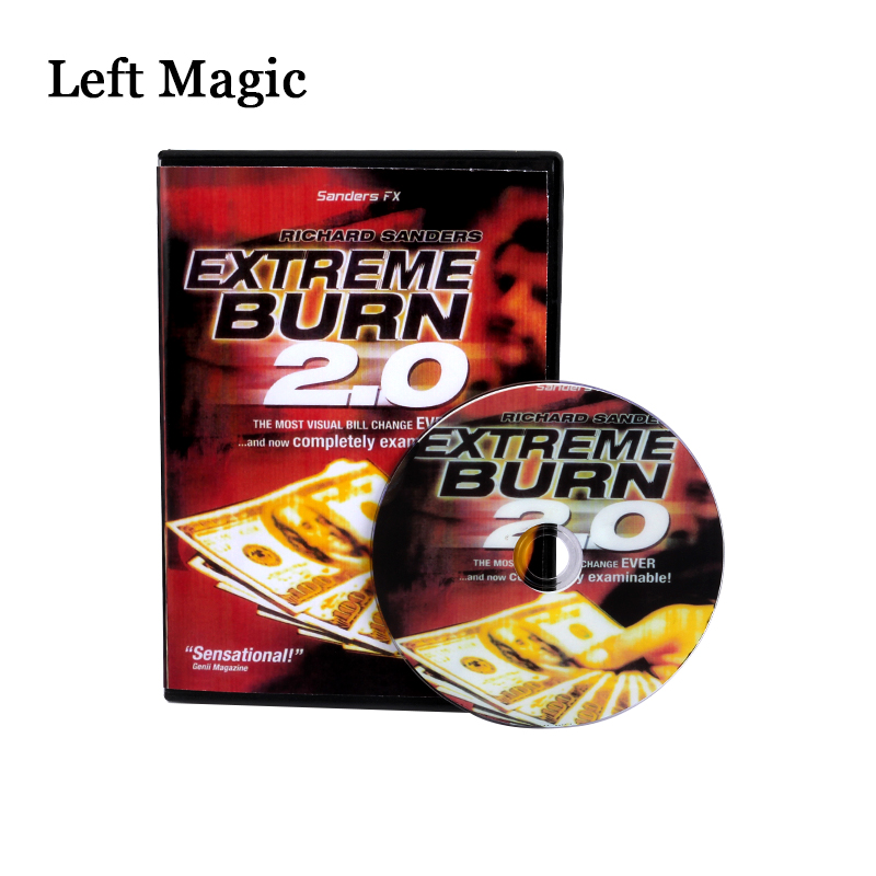 Extreme Burn 2.0 (Gimmicks+DVD) Money Magic Tricks Magic Comedy Close Up Stage Magic Props Illusions Mentalism   Extreme Burn 2.0 (Gimmicks+DVD) Money Magic Tricks Magic Comedy Close Up Stage Magic Props Illusions Mentalism