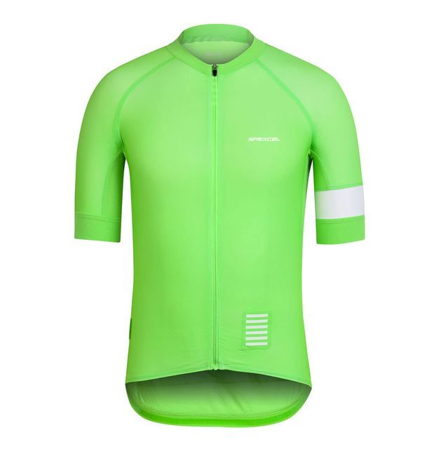 48c7e7916 Spexcel high quality pro team short sleeve Green Coral cycling jersey Tight  fit jerseys Ropa Ciclismo mtb or road bike gear -in Cycling Jerseys from  Sports ...