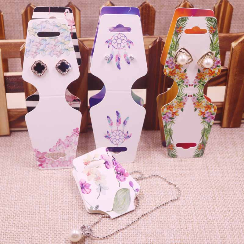 2018 New 50 Pcs DIY  120x45m Necklace Card Dream Catch Her Earring Card Colour Nice Design Custom Necklace Card Cost Extra