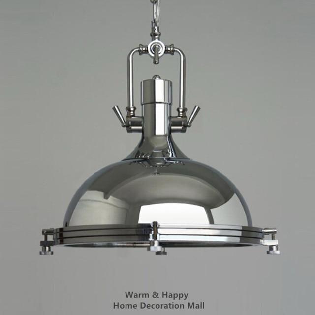 Metal industrial l mpara colgante cromo luz casal colgante - Lamparas industriales colgantes ...