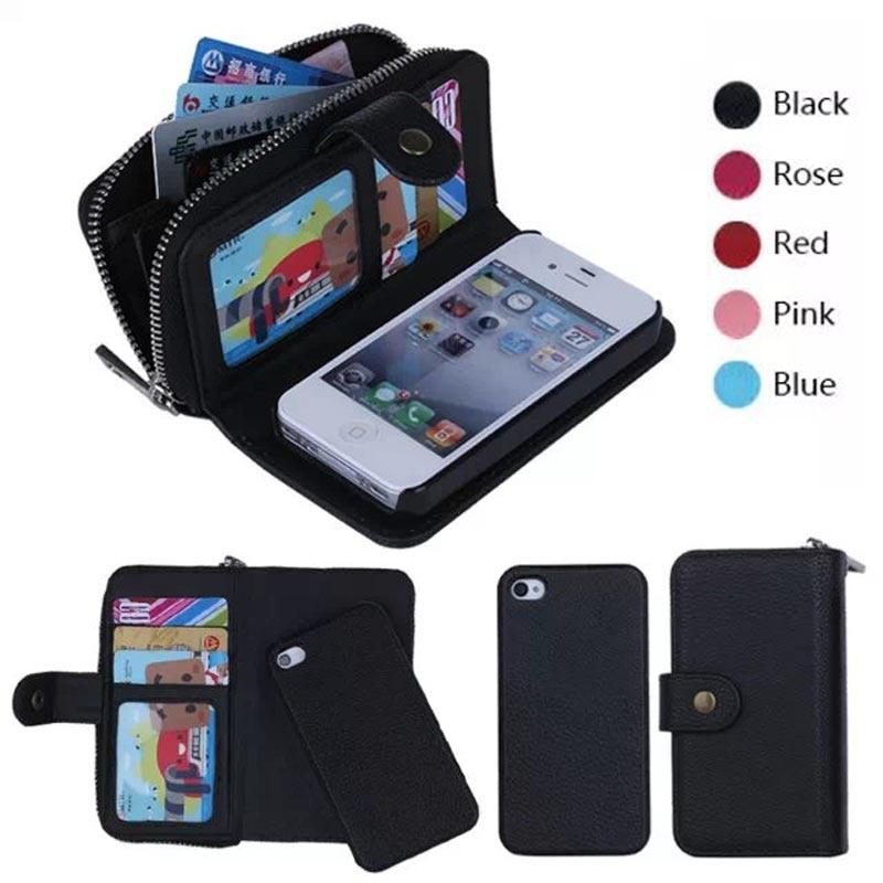 bilder für Für iPhone 6 s Fällen Flip Leder-mappenkasten Für iPhone 6/6 s Plus/5 s/SE/4 s/7 Plus Capinhas Telefon Taschen Reißverschlusstasche Geldbörse Handtasche