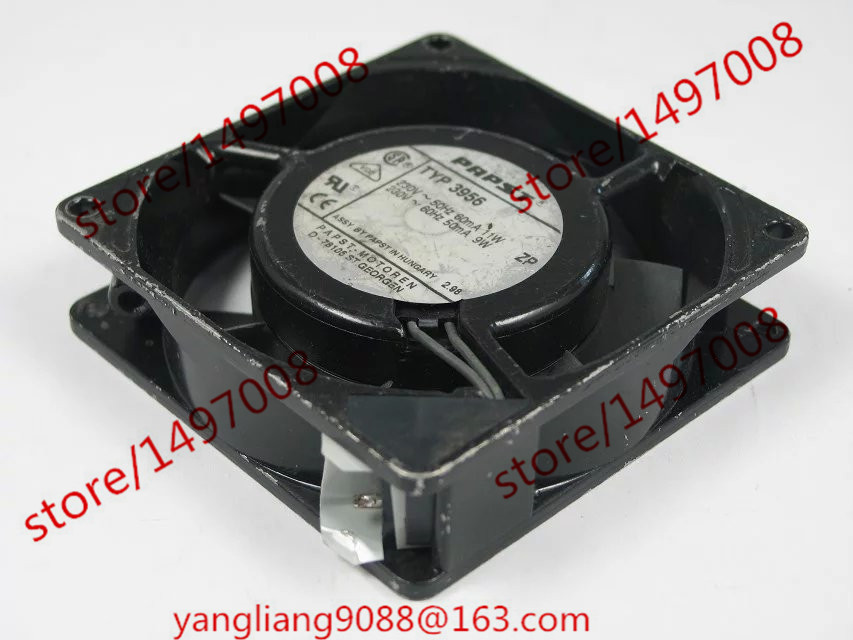 ebmpapst TYP 3956 TYP3956 DC 223-230V 9-11W 2-Pin Server Square  Fan