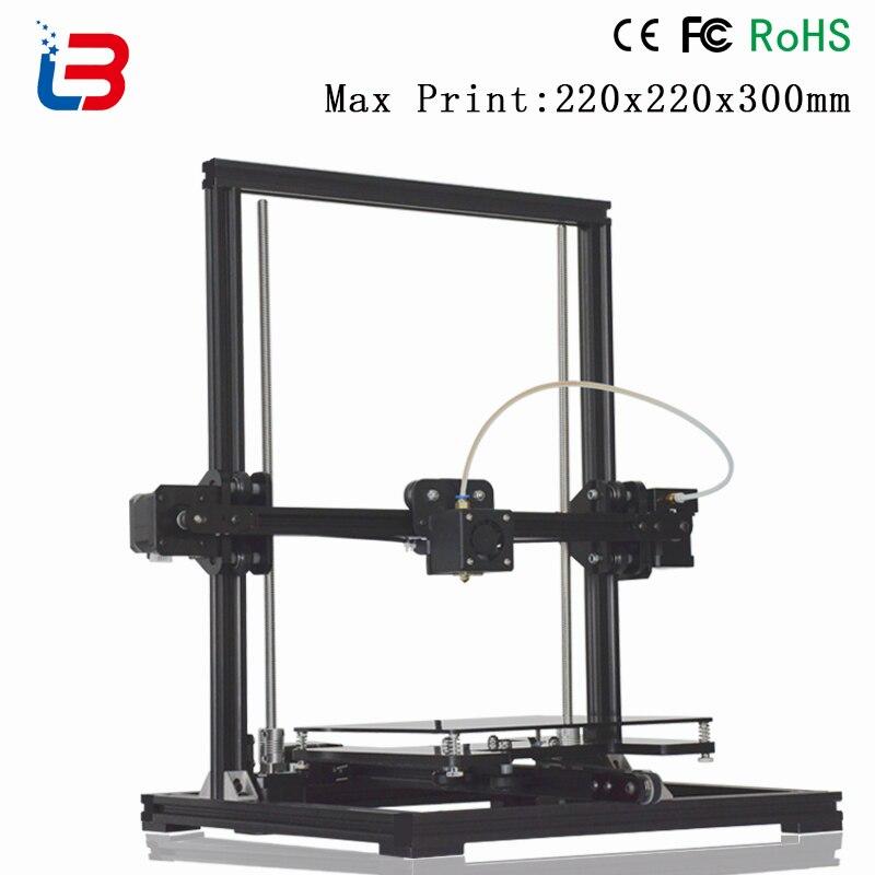 Offre spéciale Tronxy X3 cadre en métal imprimante 3D bricolage kits grande taille de construction avec boîtier de contrôle LCD niveau automatique 8 GB carte SD et filament comme cadeau
