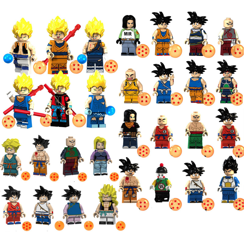 Compatible Legoing Super Saiyan Dragon Ball Z Goku Action Figure Toys Building Blocks Bricks for christmas gift Compatible Legoing Super Saiyan Dragon Ball Z Goku Action Figure Toys Building Blocks Bricks for christmas gift