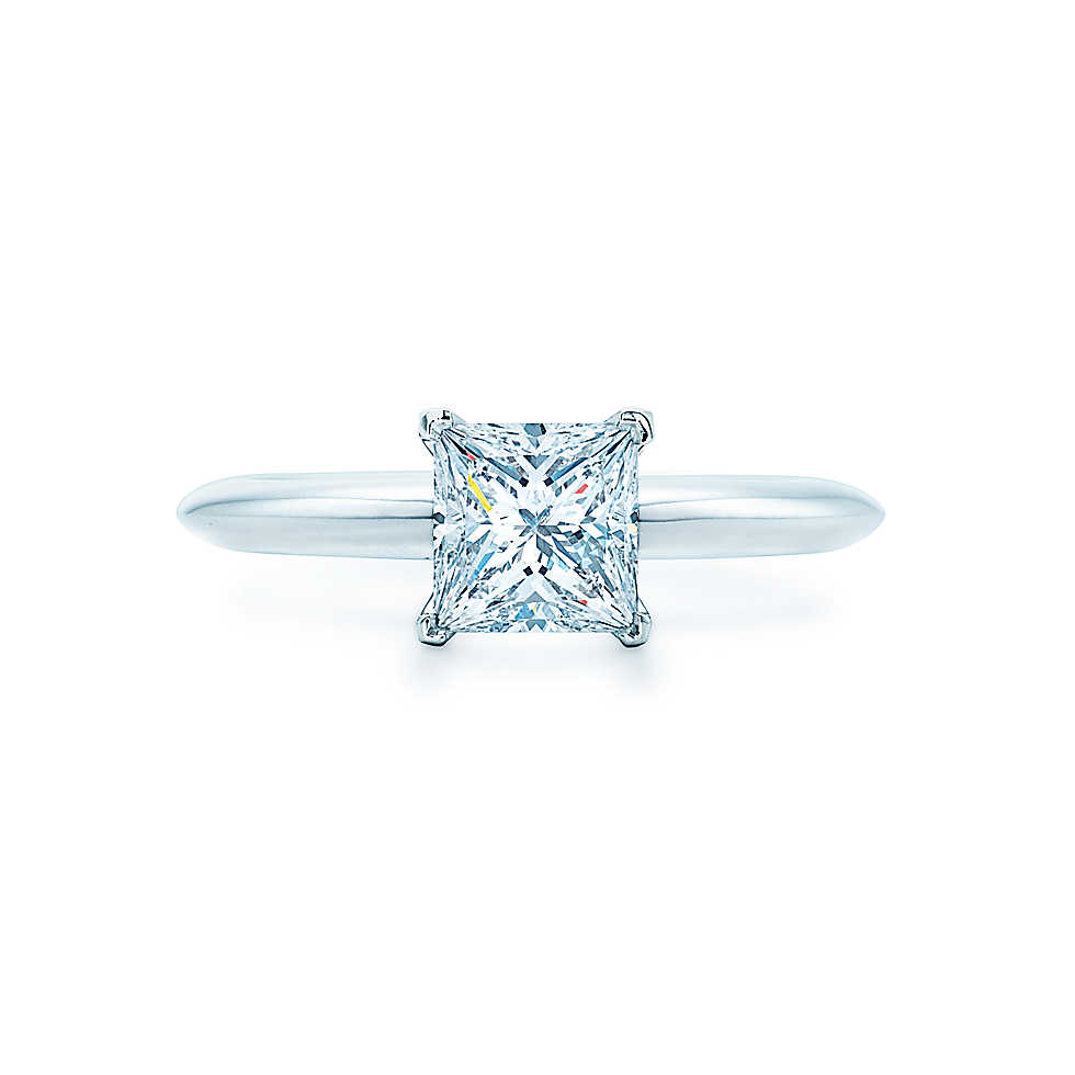 india jewelry rings princess cut promotion wedding ring princess cut Elegant Brief 2Ct Princess Cut Reliable Synthetic Gem Ring for Women Solid AU White Gold Wedding Romantic Jewelry