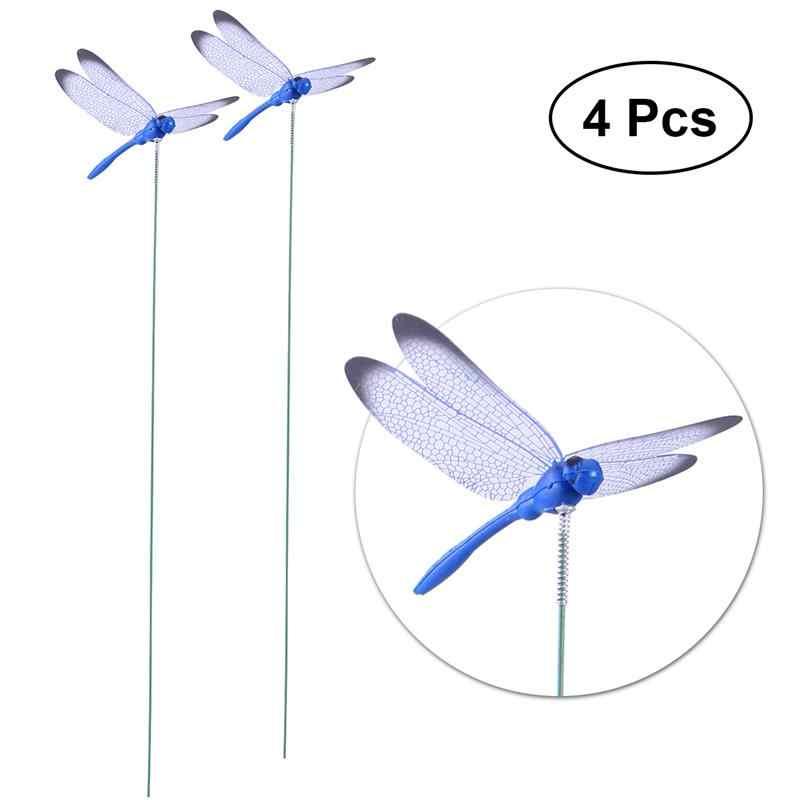 4pcs Simulation Dragonfly Arrangment