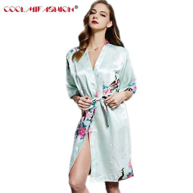 Online Shop Robe women bathrobe robes Kimono Pajamas gowns women home robe  clothes Silk dress Terry bathrobe sleepwear chemise de nuit femme  5f6739b78