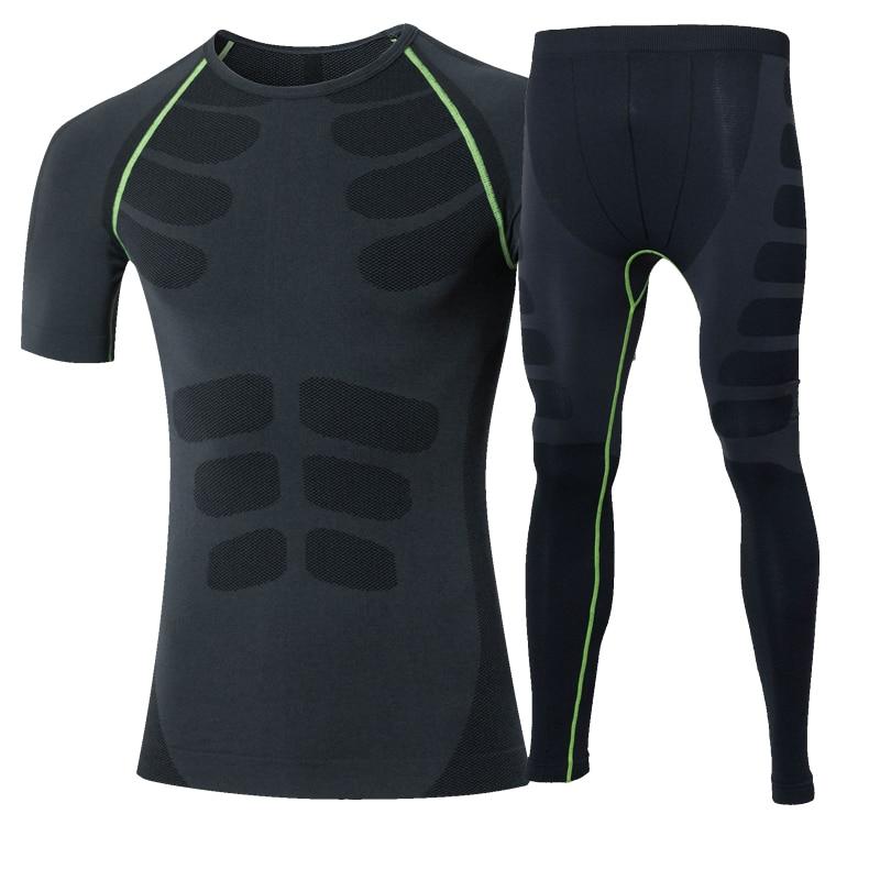 Nuevo juego de correr T Shirt Fitness Leggings Running Gym Training - Ropa deportiva y accesorios - foto 2