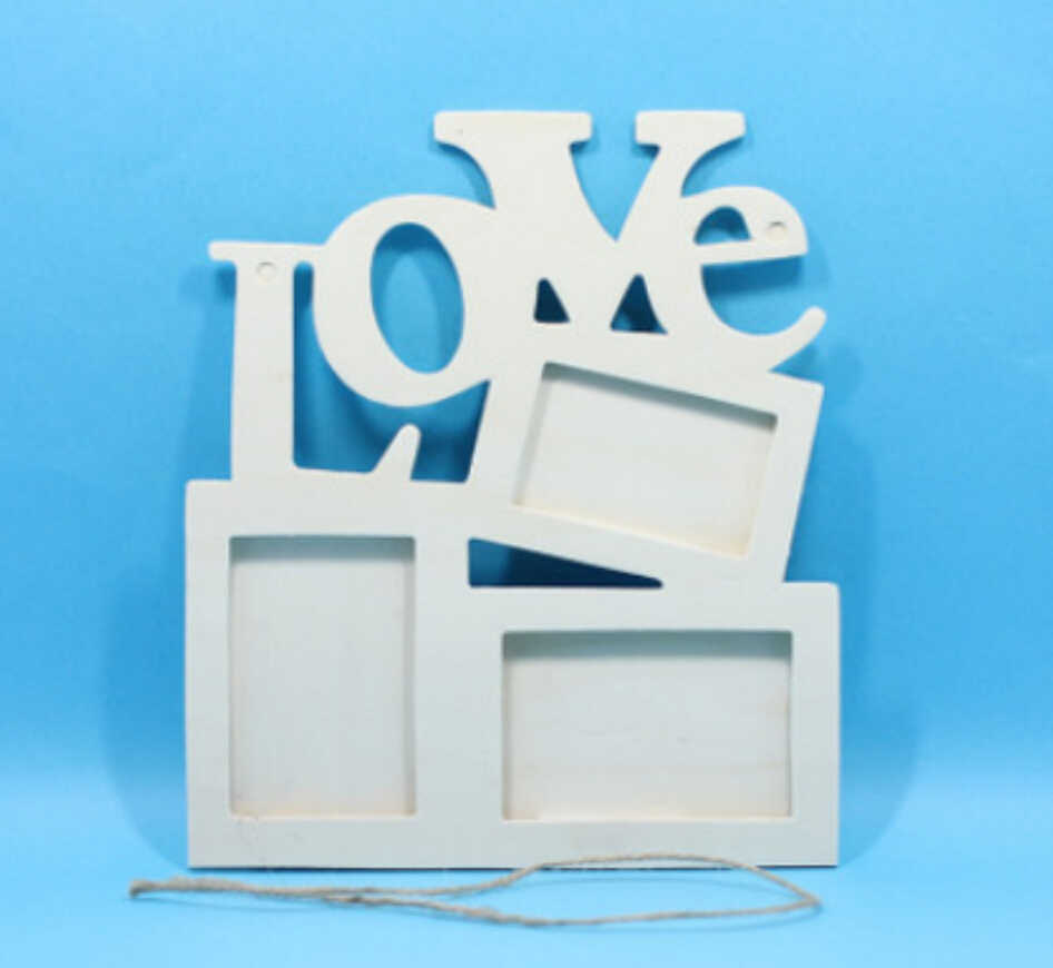2018 new Rectangle Wooden Photo Frame With FAMILY Letter Love English Letter Hanging DIY Picture Frame Art Craft Home Decor