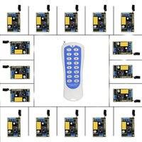 작은 스마트 홈 220 볼트 1CH 1CH 10A 무선 원격 제어 스위치 릴레이 수신기 + 채널 송신기 시스템, 315/433.92 백만헤르