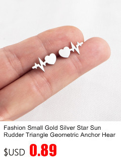New Earrings Fashion Simple Stud Earrings Personality Trendy Three ways to wear Triangle Earring Wholesale Jewelry Womens Earing 8