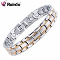 "Free Shipping 2017 Fashion Jewelry Healing Magnetic Titanium Bracelet For Men Or Women Good For Health  8.5""  OTB-1265SG"