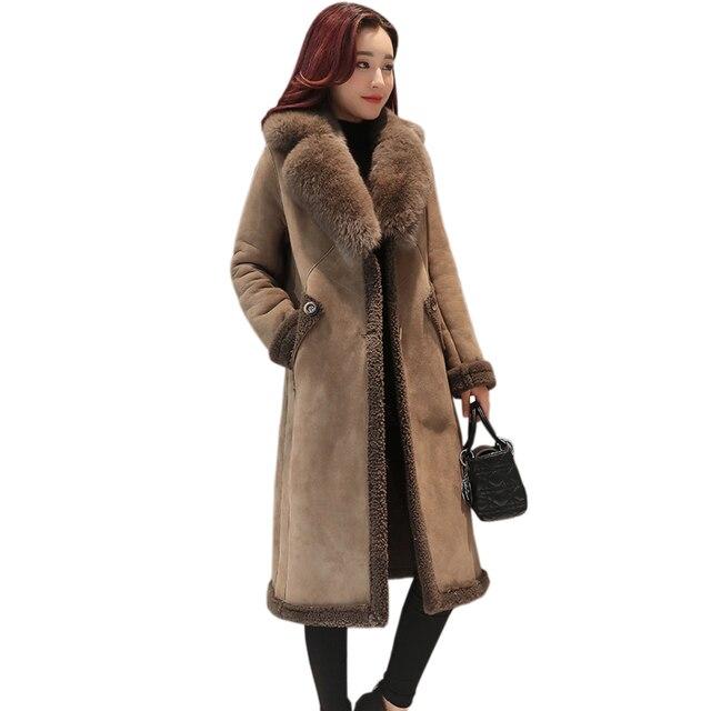 Mode 2017 Et Cuir Daim Long D'hiver À La Femmes En Nouvelle Manteau 1Fzaqrn1Aw